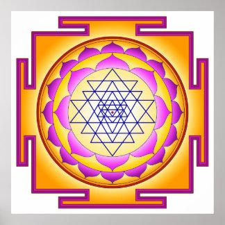 Sri Chakra Goddess Shri Lalitha Tripura Sundari Poster