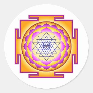 Sri Chakra Goddess Shri Lalitha Tripura Sundari Round Sticker