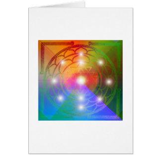 Sri Chakra Yantra Greeting Card