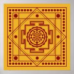 Sri espiritual Yantra Impresiones