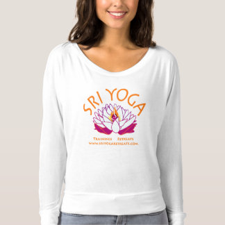 Sri flowy white long sleeves t-shirt