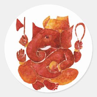 Sri Ganesh on Fire Stickers