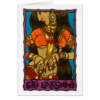 Sri Lakshmi Greeting Card