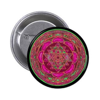 Sri Lakshmi Yantra Mandala Button