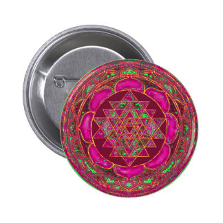 Sri Lakshmi Yantra Mandala Pinback Button