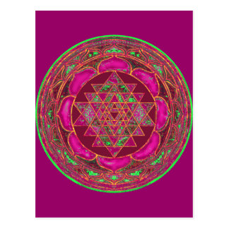 Sri Lakshmi Yantra Mandala postcard