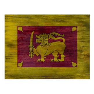Sri Langka distressed Sri Lankan flag Postcard
