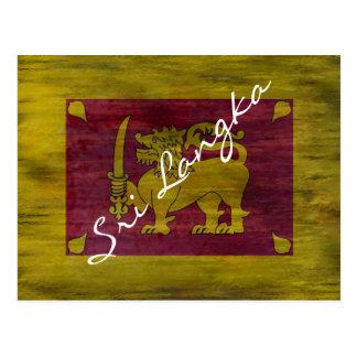 Sri Lanka apenó la bandera srilanquesa Postal