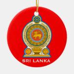 SRI LANKA* Ceramic Christmas Ornament