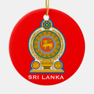 SRI LANKA* Ceramic Christmas Ornament