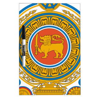 Sri Lanka Coat of Arms Dry-Erase Whiteboard