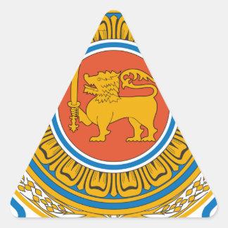 Sri Lanka Coat of Arms Triangle Sticker