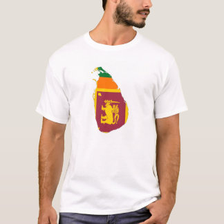 sri lanka country flag map shape silhouette symbol T-Shirt