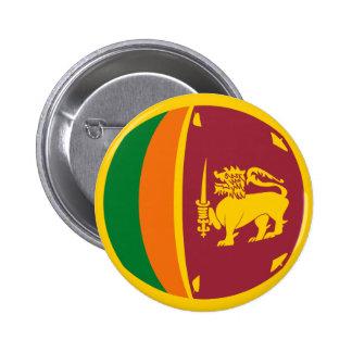 Sri Lanka Fisheye Flag Button