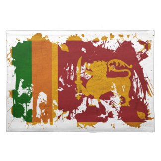 Sri Lanka Flag Cloth Placemat