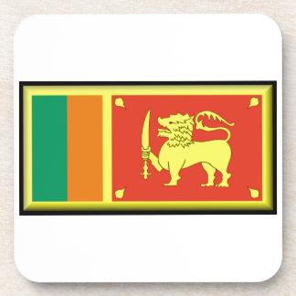 Sri Lanka Flag Drink Coaster