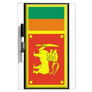 Sri Lanka Flag Dry Erase Whiteboards