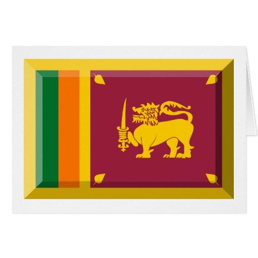 Sri Lanka Flag Jewel Greeting Card