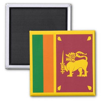 Sri Lankan Flag. Sri Lanka Flag Magnet by