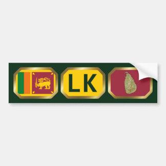 Sri Lanka Flag Map Code Bumper Sticker
