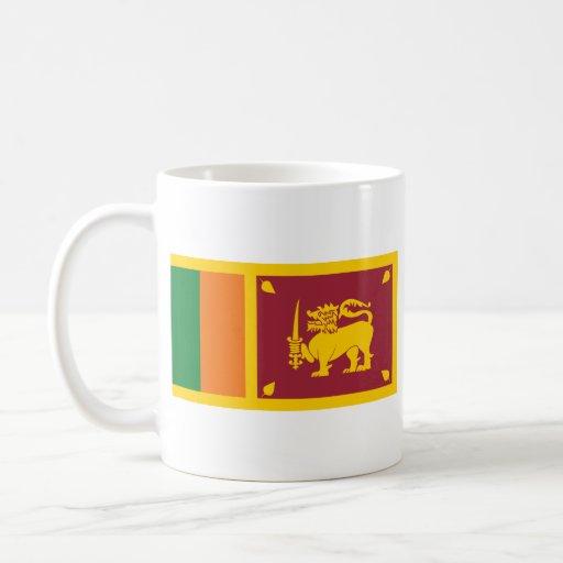 Sri Lanka Flag ~ Map Mug