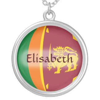 Sri Lanka Flag + Name Necklace