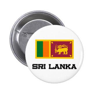 Sri Lanka Flag Pinback Button