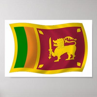 Sri Lankan Flag. Sri Lanka Flag Poster Print by
