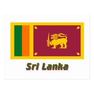Sri Lanka Flag with Name Postcard