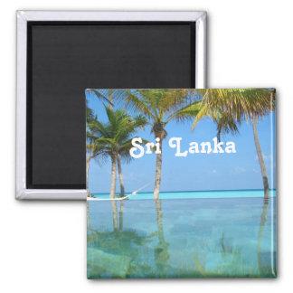 Sri Lanka hermosa Imán Cuadrado