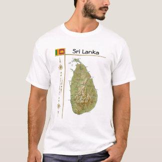 Sri Lanka Map + Flag + Title T-Shirt