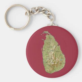 Sri Lanka Map Keychain