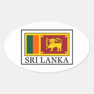 Sri Lanka Pegatina Ovalada