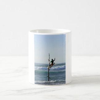 Sri Lanka stick fishermen fishing Marissa Bay Coffee Mug