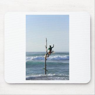 Sri Lanka stick fishermen fishing Marissa Bay Mouse Pad