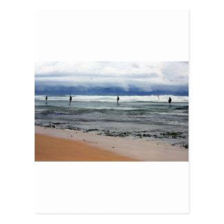 Sri Lanka stick fishermen Indian ocean fishing Postcard