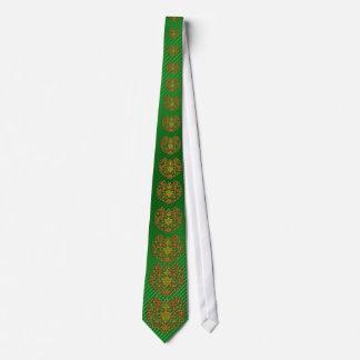 Sri Lanka  tribal green tie
