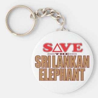 Sri Lankan Elephant Save Keychain