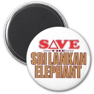 Sri Lankan Elephant Save Magnet