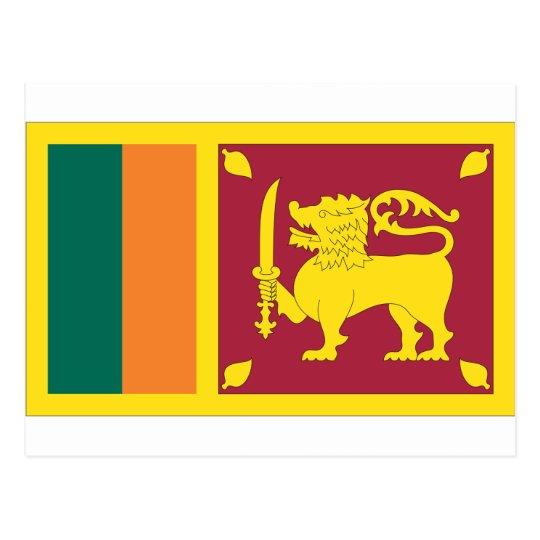 Sri Lankan Flag Postcard
