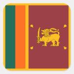Sri Lankan Flag Square Sticker