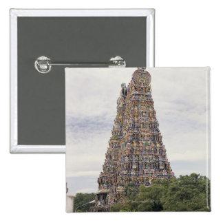 Sri Meenakshi Amman Temple, Madurai, Tamil Nadu, 2 Inch Square Button