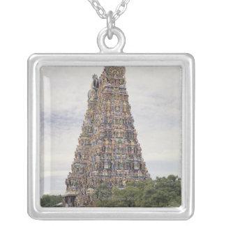Sri Meenakshi Amman Temple, Madurai, Tamil Nadu, Square Pendant Necklace