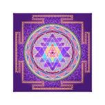 Sri púrpura Yantra Impresión En Lona Estirada