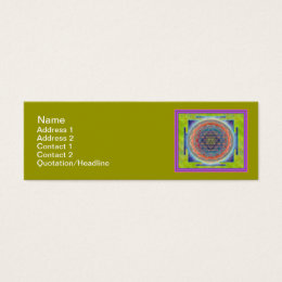 Yantra business cards templates zazzle sri yantra12 skinny 3x1 business card reheart Images
