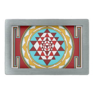 Sri Yantra1 Rectangular Belt Buckle