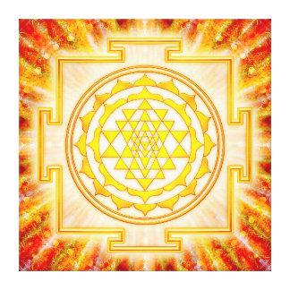 Sri Yantra - Artwork light Canvas Print