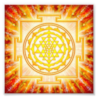 Sri Yantra - Artwork light Photo Print
