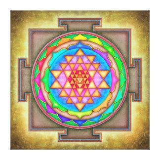 Sri Yantra - Artwork VII-IV Canvas Print
