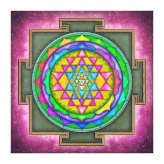 Sri Yantra - Artwork VII-V Canvas Print
